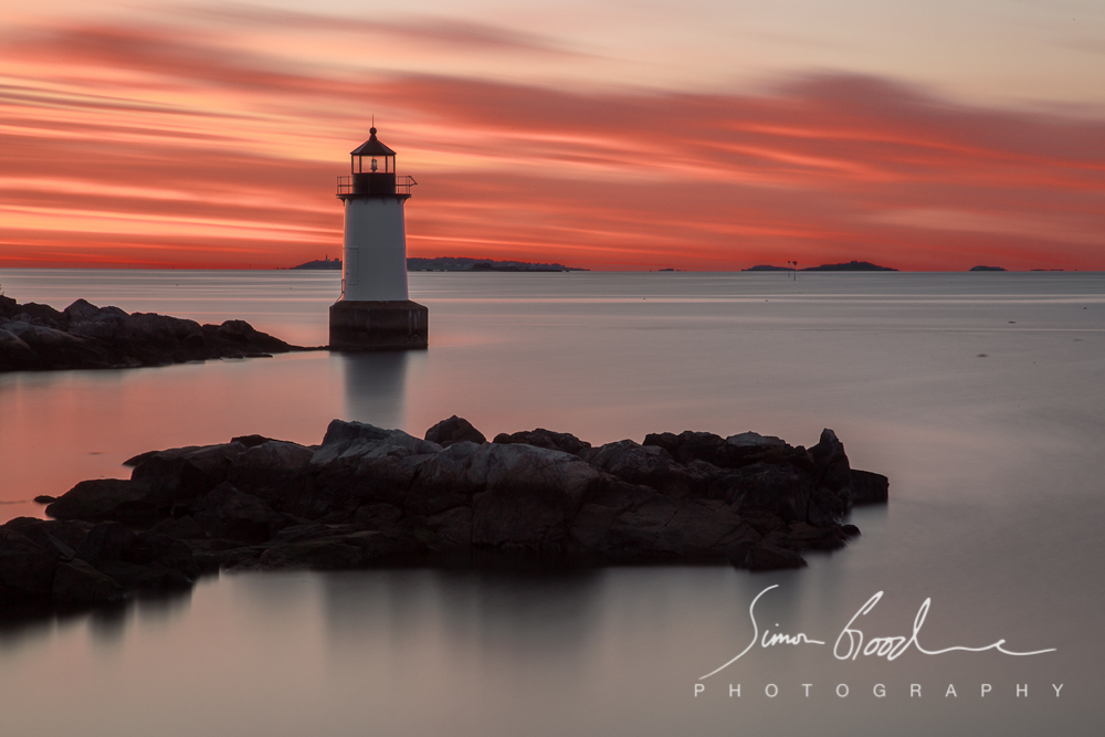 Fort Pickering Light, MA, Massachusetts, Salem, Sunrise, Winter Island Park, Rocks, Big Stopper, LEE Filters, ND Filter, Neutral Density, Lighthouse, Lighthouses, Sea, Ocean, Night, Fort Pickering, Simon Goodacre, Photography, New England, Long Exposure, Water, Light,